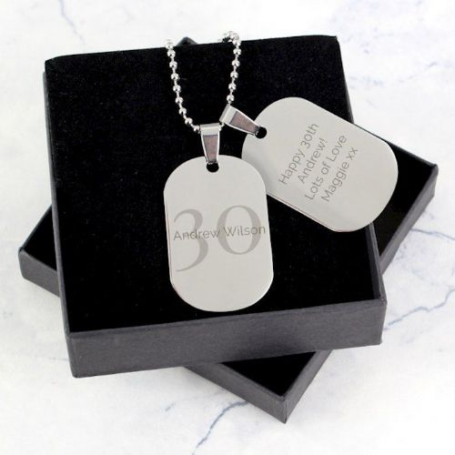 Big Age Stainless Steel Double Dog Tag Necklace